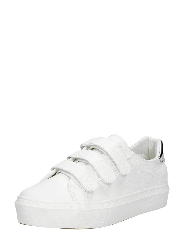 Chaussures Blanches Avec Fermeture Velcro Pour Les Femmes HPLcmV9a
