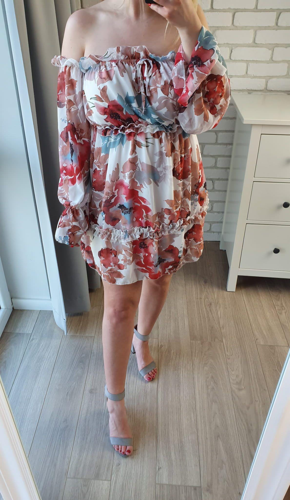 Sukienka Hiszpanka W Kwiaty Flow Ii Fashion Dresses Shoulder Dress