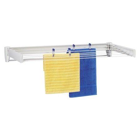Clothes Drying Rack Target Leifheit Telegant 100 Plus Wall Mount Drying Rack  White  Target