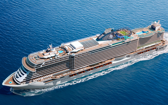 Download Wallpapers Seaside 4k Cruise Ship Sea MSC Cruises