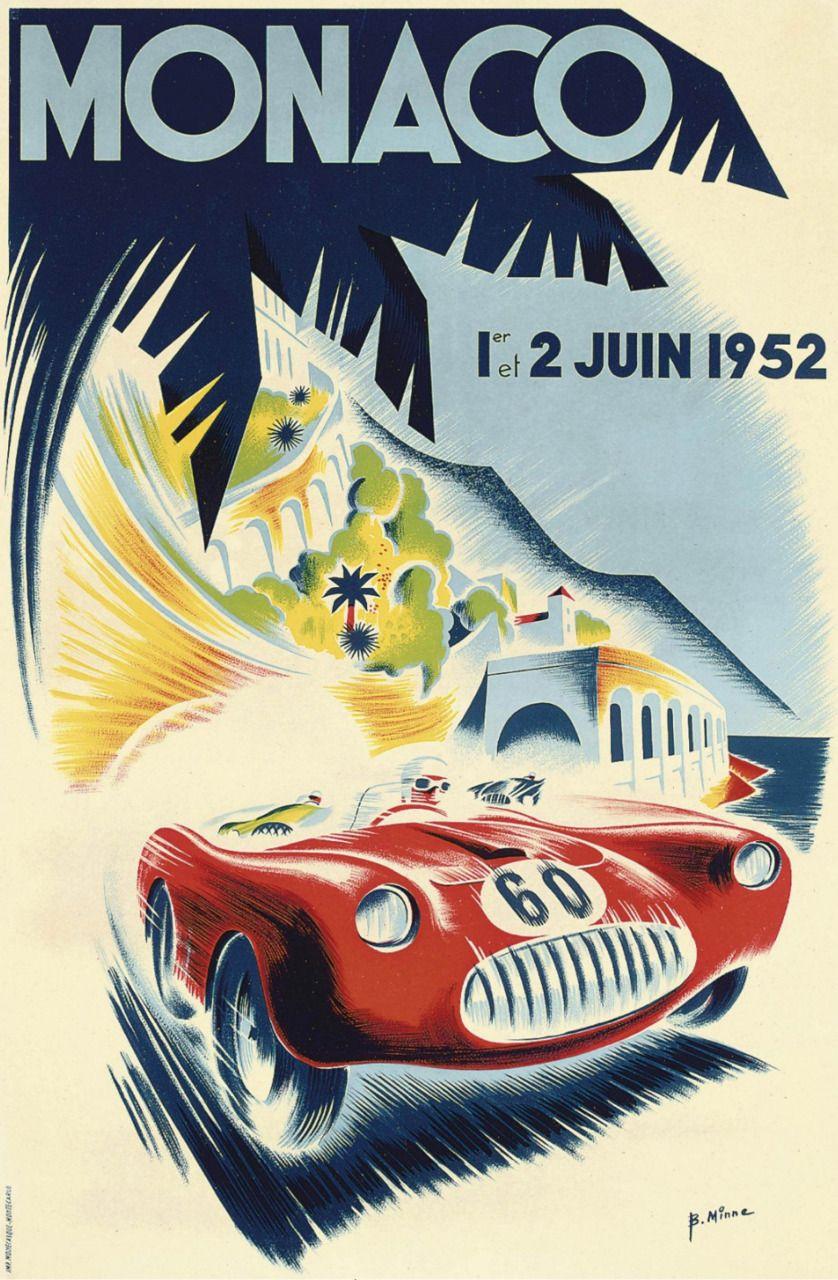 #monaco #grandprix poster 1952 Winner: Vittorio Marzotto / Ferrari Find all the Grand Prix of Monaco official products in partnership with the Automobile Club of Monaco, as well as web exclusives! http://monaco-addict.com