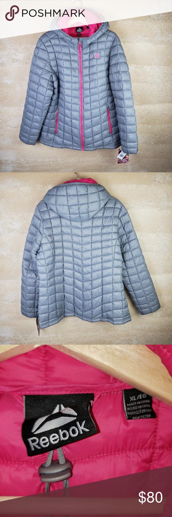 Reebok Nwt Puffer Jacket Xl Gray And Pink Puffer Jackets Jackets Clothes Design [ 1740 x 580 Pixel ]