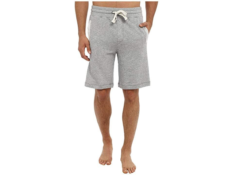 2(X)IST Core Terry Short (Light Grey Heather) Men's Shorts. Achieve a laid-back look in the casual 2(X)IST Terry Short. Cotton-blend sweat shorts feature a low rise and trim fit from hip to hem. Covered elastic waistband. Adjustable drawstring with metal grommets. Welt hand pockets with contrast trim. Back patch pocket. 60% cotton  20% polyester  20% rayon. Machine wash cold  dry flat. Imported. Measurements: Waist Measurement #2(X)IST #Apparel #Bottom #Shorts #Gray