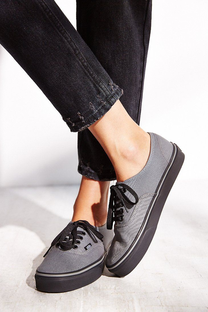 926757c0b3bc3a Vans Authentic Black Sole Women s Sneaker - Urban Outfitters