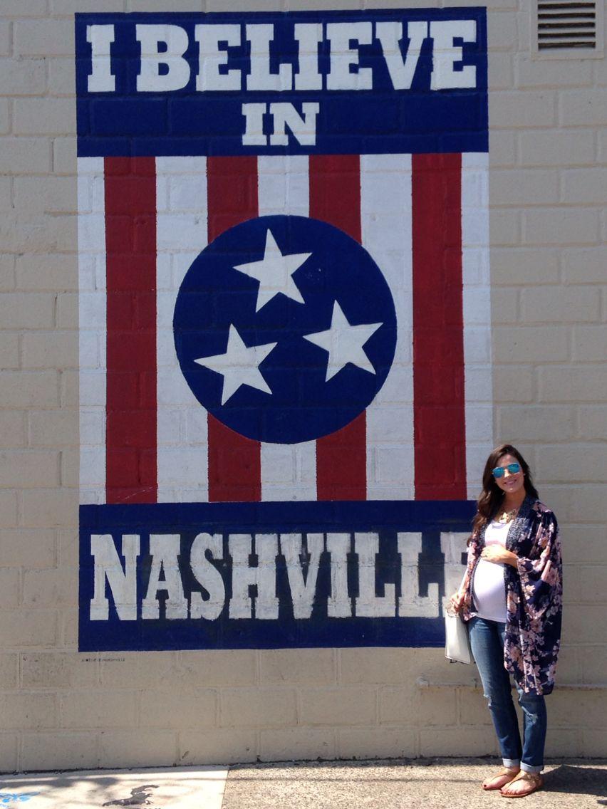 I Believe Mural In Nashville Flag Painting Wall Art Hometown Art Weekend In Nashville Nashville Murals I Believe In Nashville