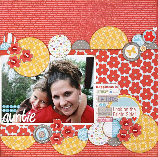 Love all these circles. Layout by Stephanie Hunt