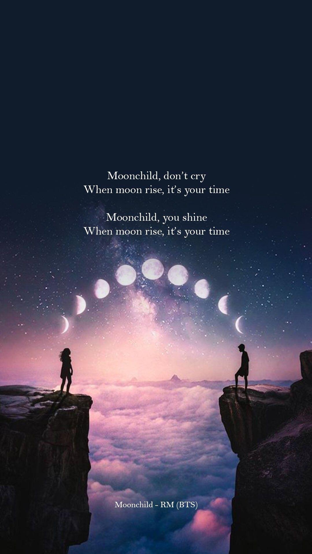 Rm Moonchild Bts Wallpaper Lyrics Bts Lyrics Quotes Bts Song Lyrics Bts inspirational quotes wallpaper