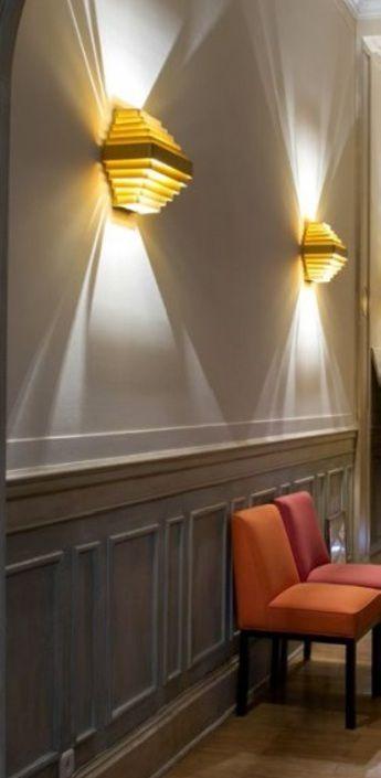 applique murale j j w or l35cm wever ducre normal eclairage luminaire luminaire design et. Black Bedroom Furniture Sets. Home Design Ideas