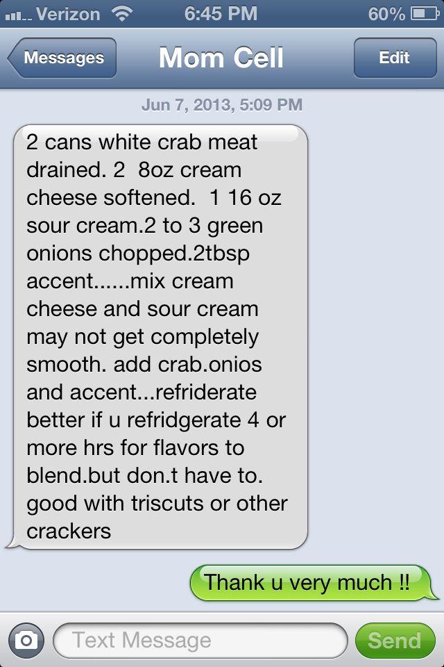 Teena's crab dip