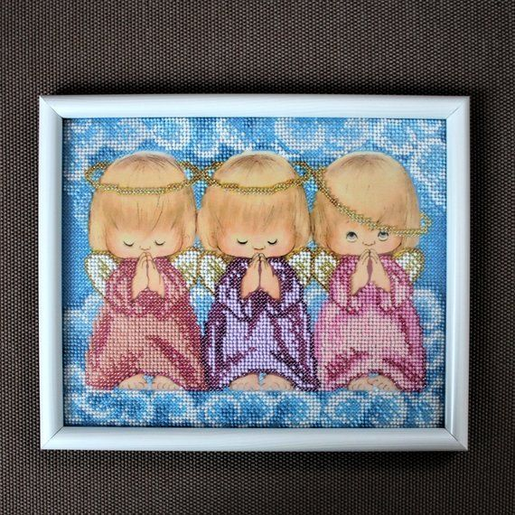 Almost perfect Angel, Picture, Beadwork, Embroidery Art, Handmade decor, Unique Gift,  Almost perfect Angel, Picture, Beadwork, Embroidery Art, Handmade decor, Unique Gift,