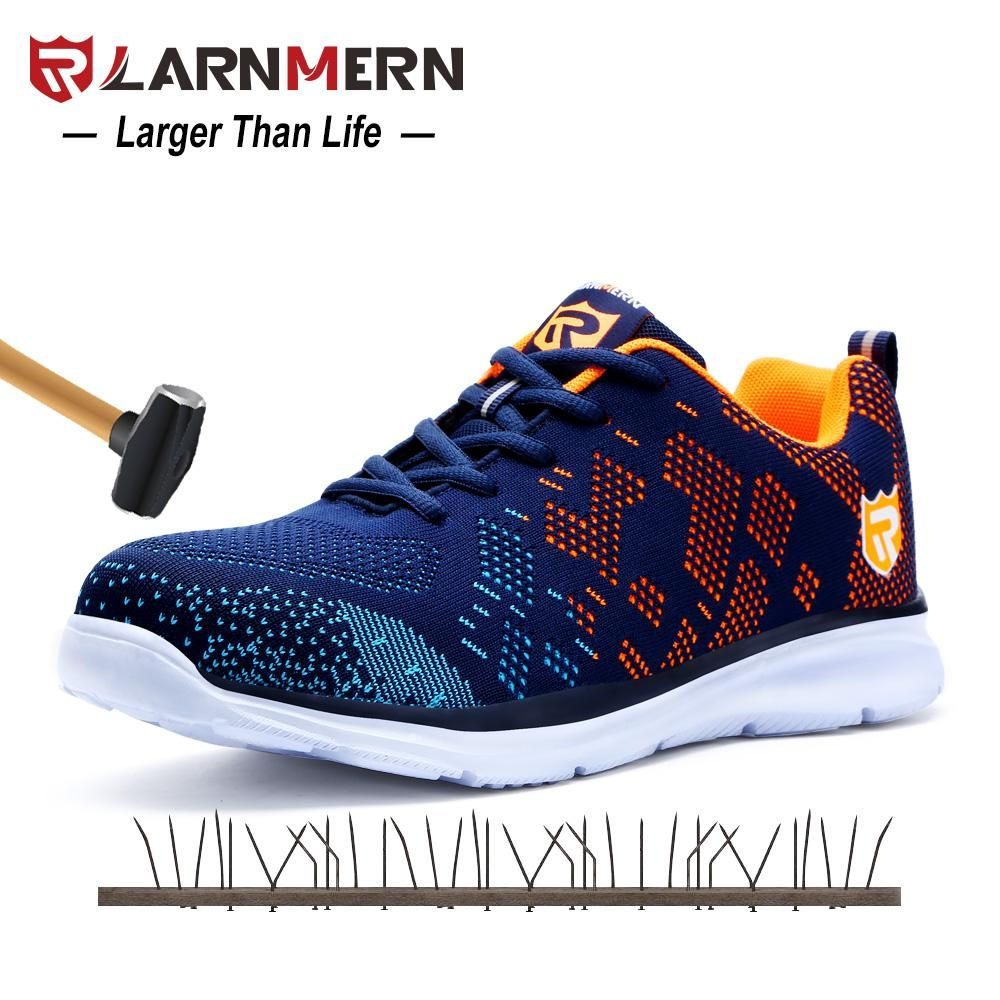 Men/'s Leather Safety Shoes Steel Toe Work Boots Breathable For Spring//Autumn