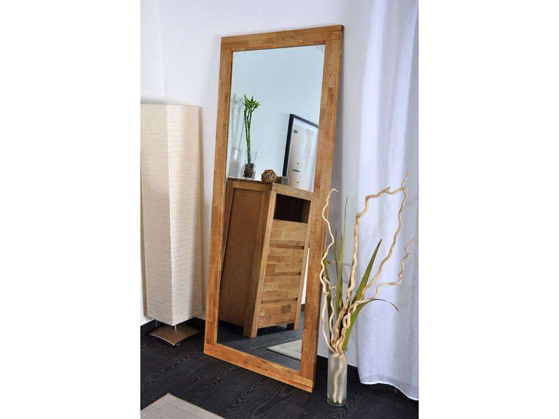 miroir poser au sol canelle en ch ne about huil vente de miroir sur pied et psych