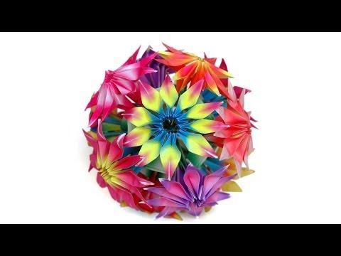 Photo of How to make origami Gloriosa flowers and kusudama