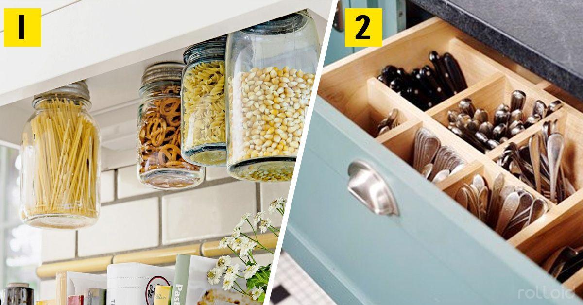 Si no sabes como ganar espacio en tu minúscula cocina, ¡Esto es para ...