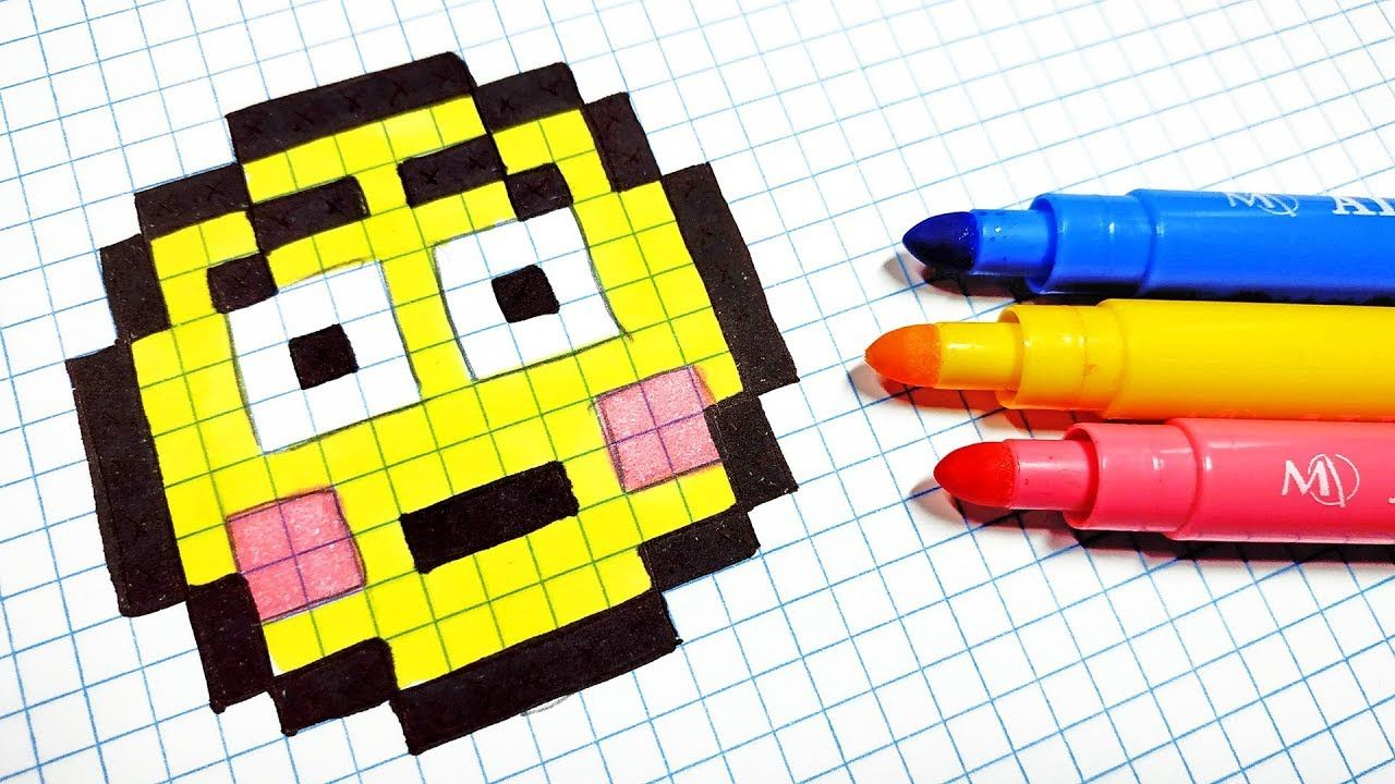 Pixel Art Hecho A Mano Como Dibujar Un Emoji Pixel Art Minecraft Pixel Art Pixel Drawing Check out our minecraft pixel art selection for the very best in unique or custom, handmade pieces from our figurines & knick knacks shops. minecraft pixel art