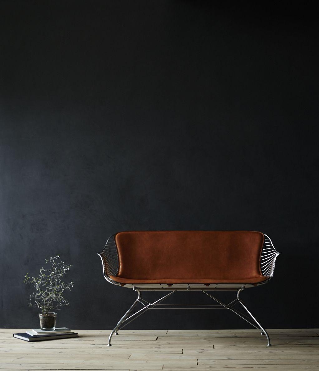 Overgaard U0026 Dyrman   Wire Lounge Sofa, Whiskey Leather