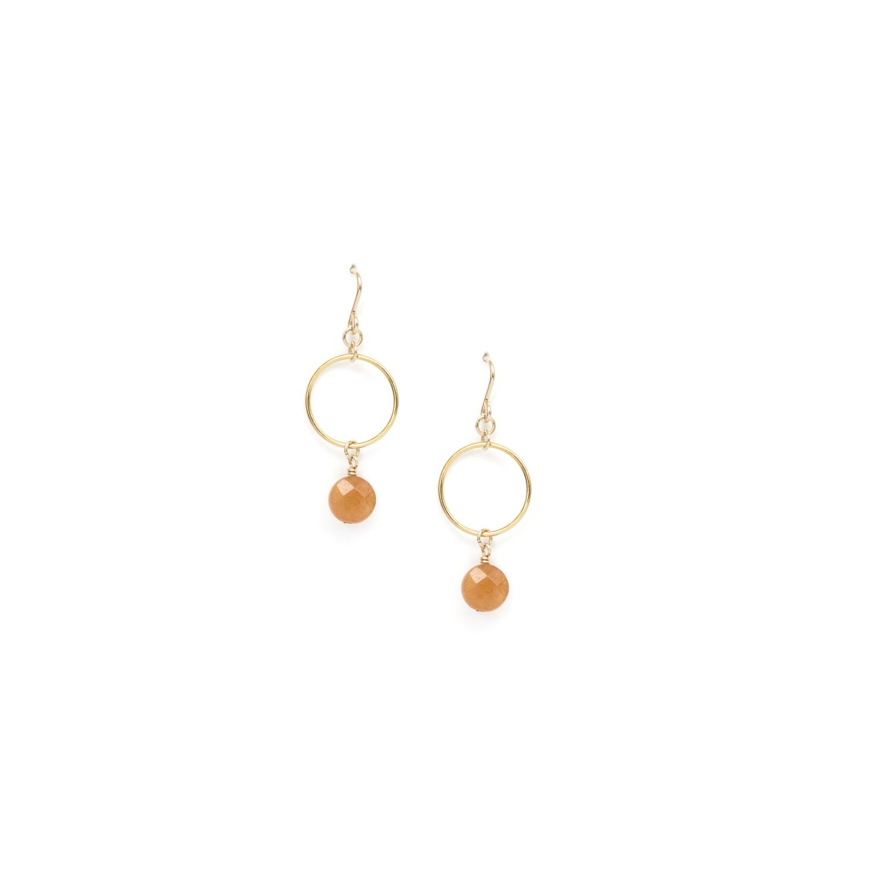ea879fdfa83 14k Gold-Filled Coin Earrings with Orange Aventurine – Emma Jane Designs