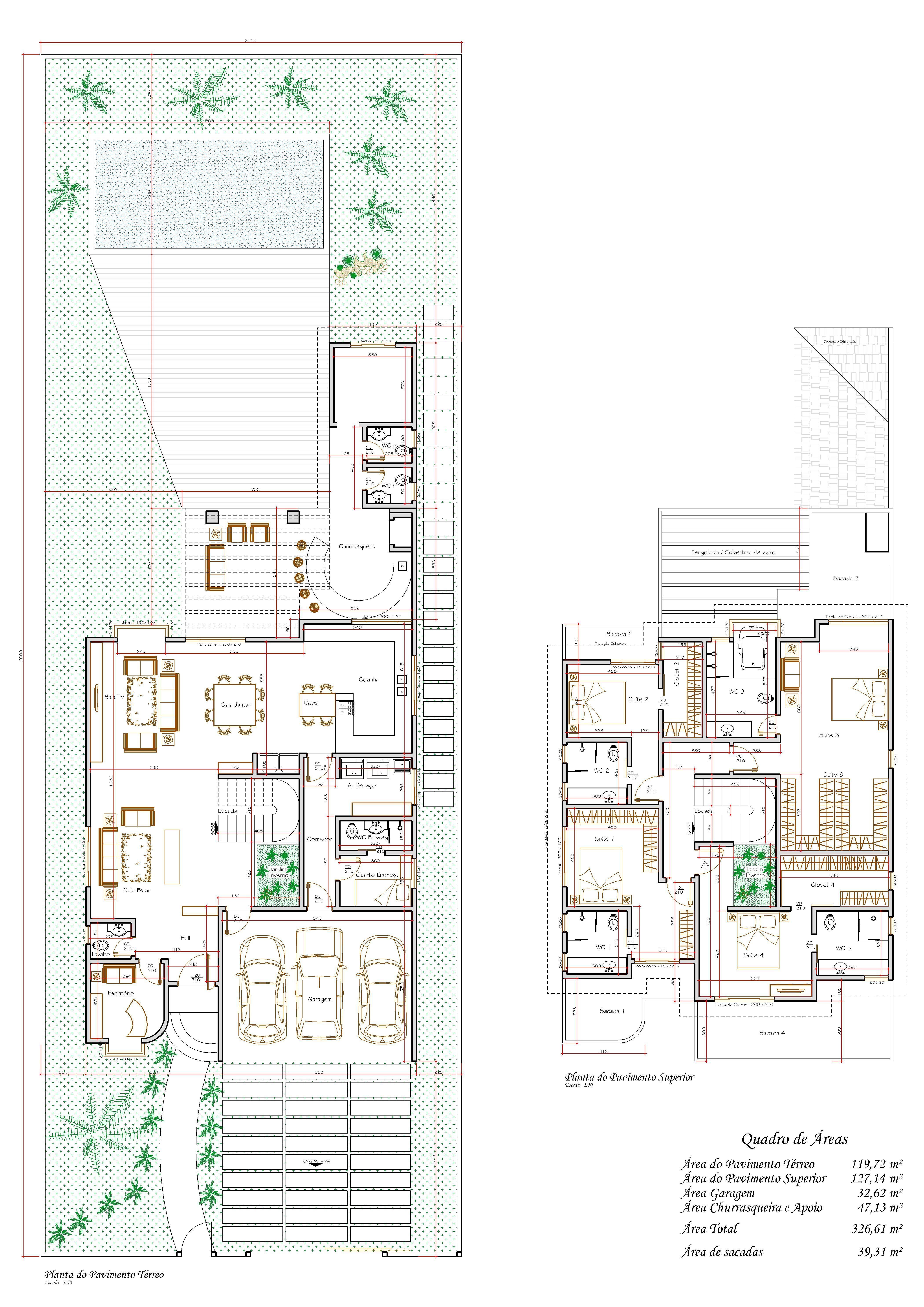 Planos casa 4 habitaciones desnivel planos y fachadas for Fachadas de casas modernas a desnivel