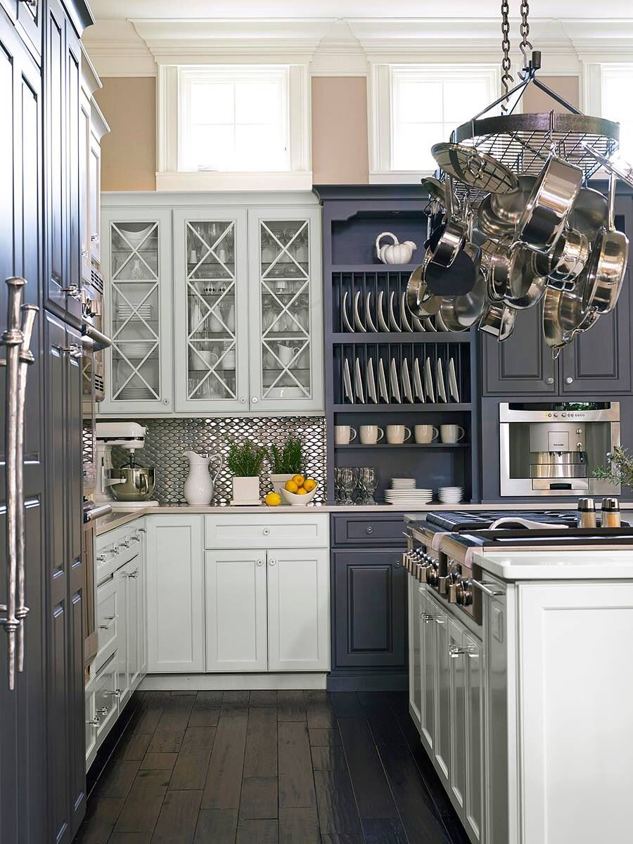 June 2014 Traditional Home magazine - mixing of dark and ...