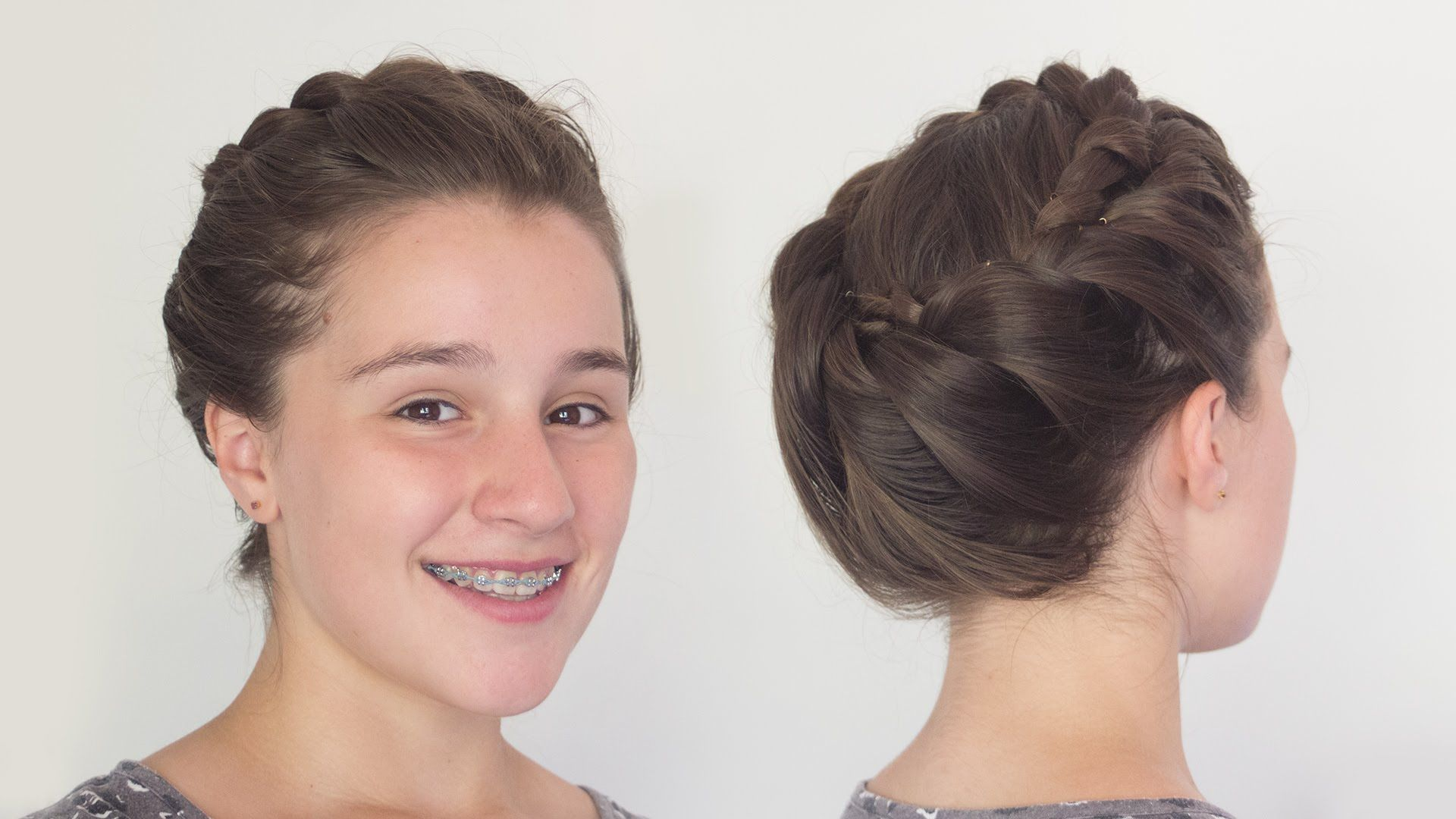 Greek Goddess Crown Braid Hairstyle for Long Hair