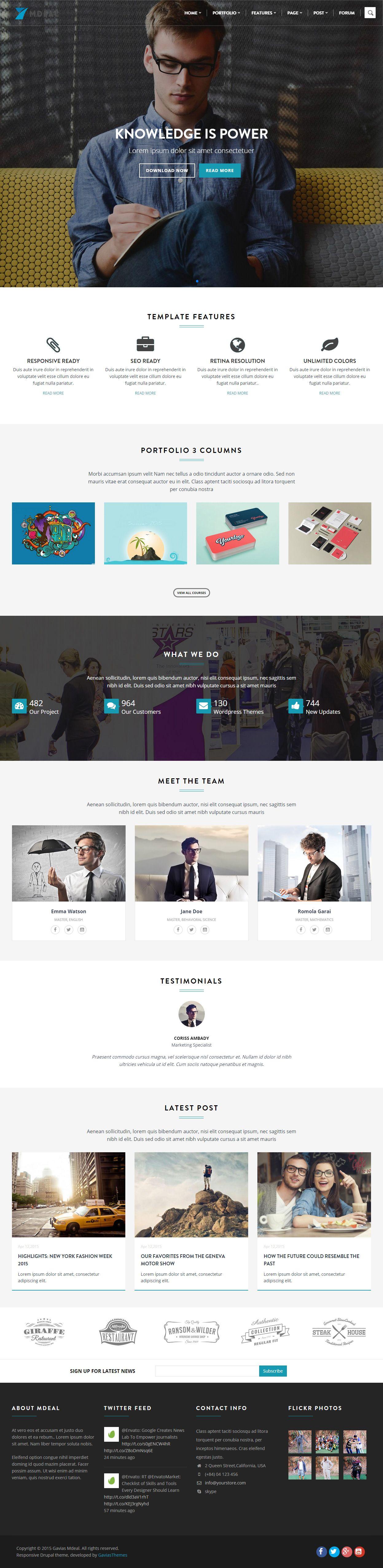 Mdeal Premium Responsive Business Drupal Theme In 2020 Drupal Web Layout Design Theme