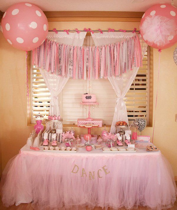 Adorable tiny dancer ballerina birthday party for Ballerina party decoration