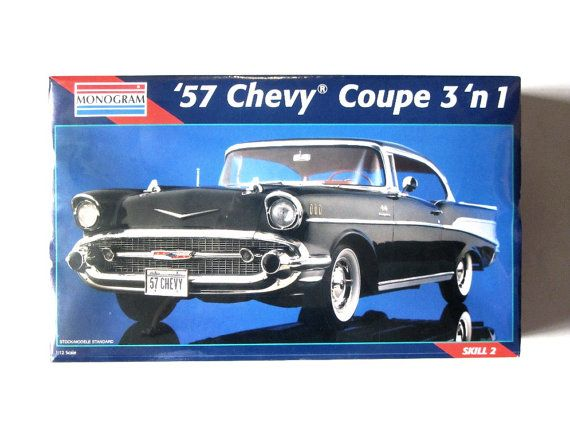 Monogram 57 Chevy Coupe 3 In 1 Vintage Model Kit By Recreated1