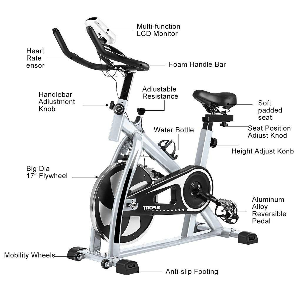 Indoor Cycling Bike Cycle Exercise Bike Mini Exercise Bike Indoor