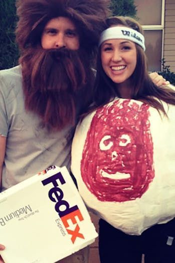 16 Hilarious Halloween Costume Ideas for Couples via @PureWow - ridiculous halloween costume ideas