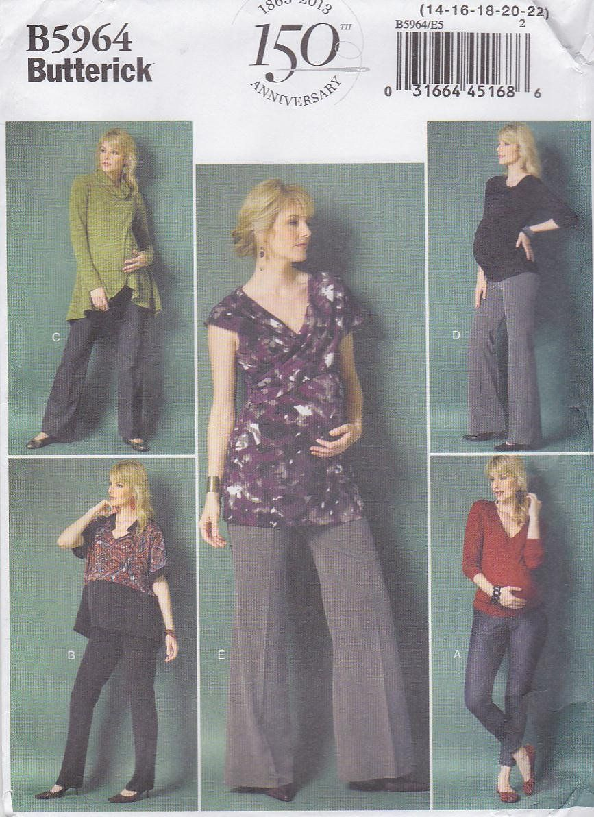 768f11025e563 Butterick Sewing Pattern 5964 Misses Size 6-14 Easy Maternity Leggings Pants