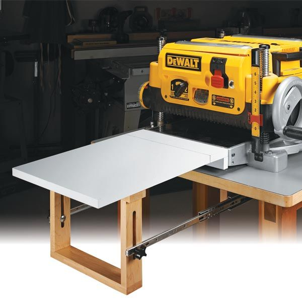 Flip Up Slide Out Planer Extension Table Woodsmith Shop