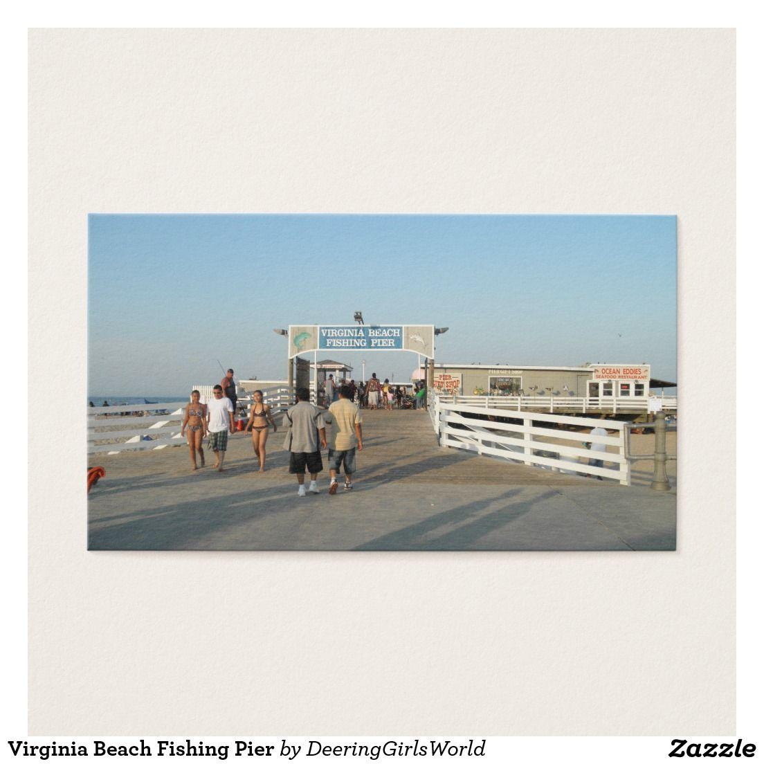 Virginia Beach Fishing Pier Business Card | DeeringGirlsWorld ...