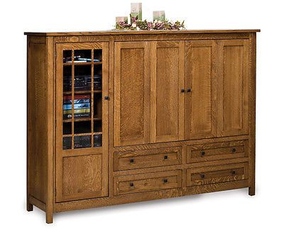 Details About Amish Tv Entertainment Center Armoire Solid