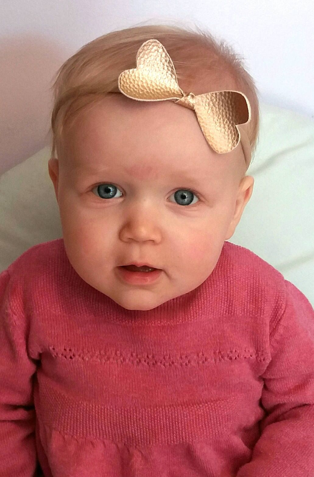 Hair accessories headbands uk - Knot Bow Baby Headbands Rose Gold Pink White Hair Accessories Gift