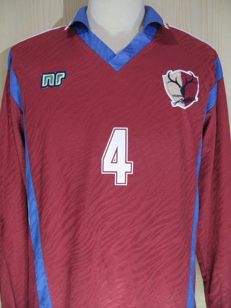 186f62360 KASHIMA ANTLERS 1992 JAPAN J LEAGUE L S  4 PLAYER FOOTBALL SHIRT VINTAGE  JERSEY