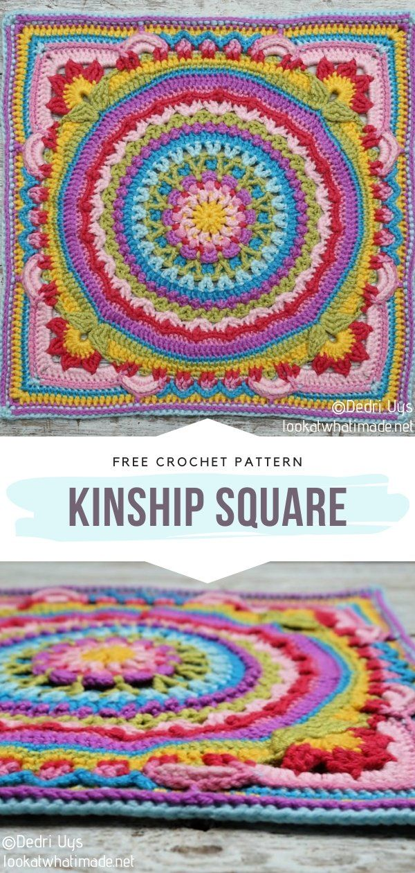 How to Crochet Kinship Square