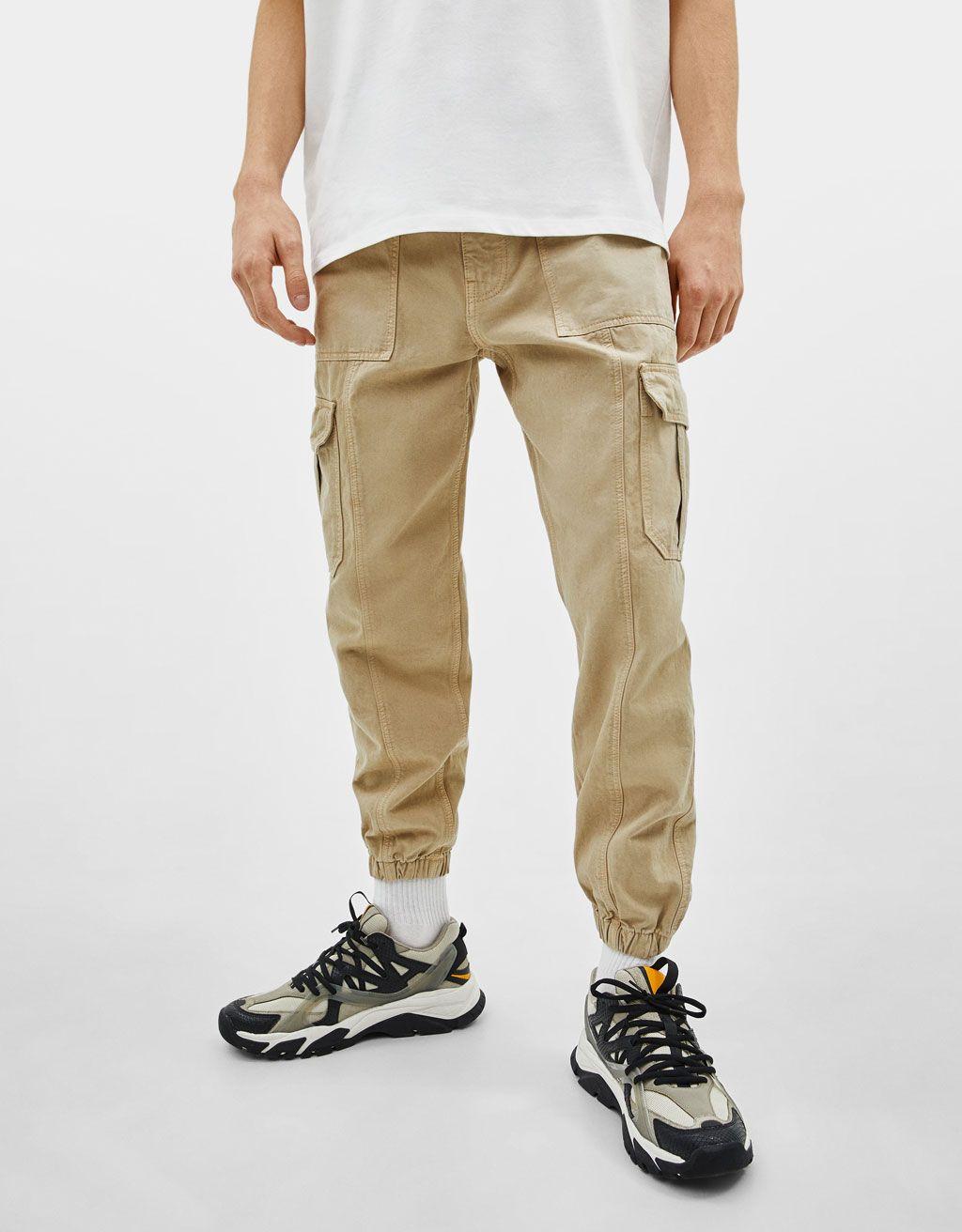 Pantalon Cargo Jogger Camuflaje Pantalones Bershka Espana Denim Bershka Pantalones Bershka Pantalones Cargo