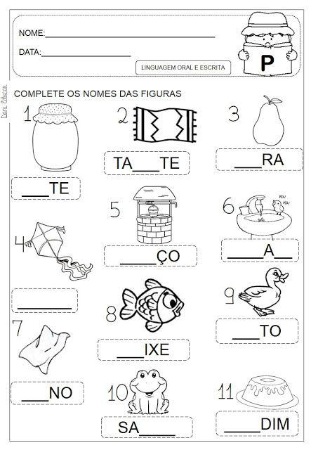 Atividades Letra P Danieducar Atividades Com A Letra P Atividades Letra E Atividades De Alfabetizacao