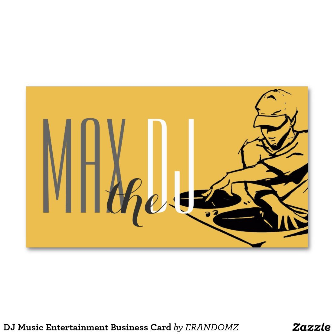 Dj music entertainment business card dj music business cards and dj dj music entertainment business card reheart Gallery