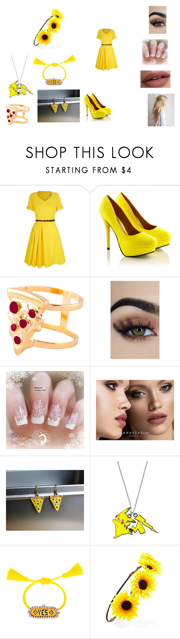 """Lily"" by hannah-may-malone on Polyvore featuring Yumi, Glenda López, Anastasia Beverly Hills, Shourouk and Forever 21"