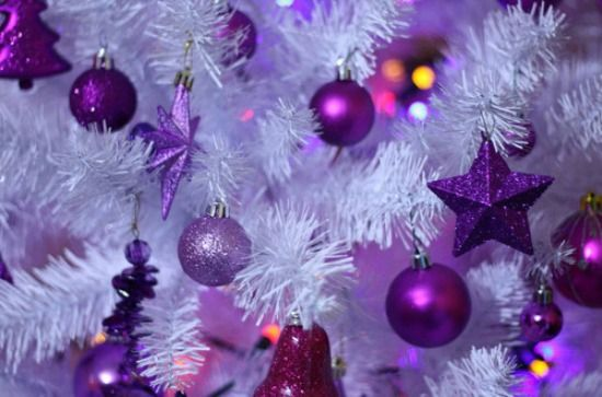 purple christmas tree ornaments free reference images - Purple Christmas Tree Ornaments