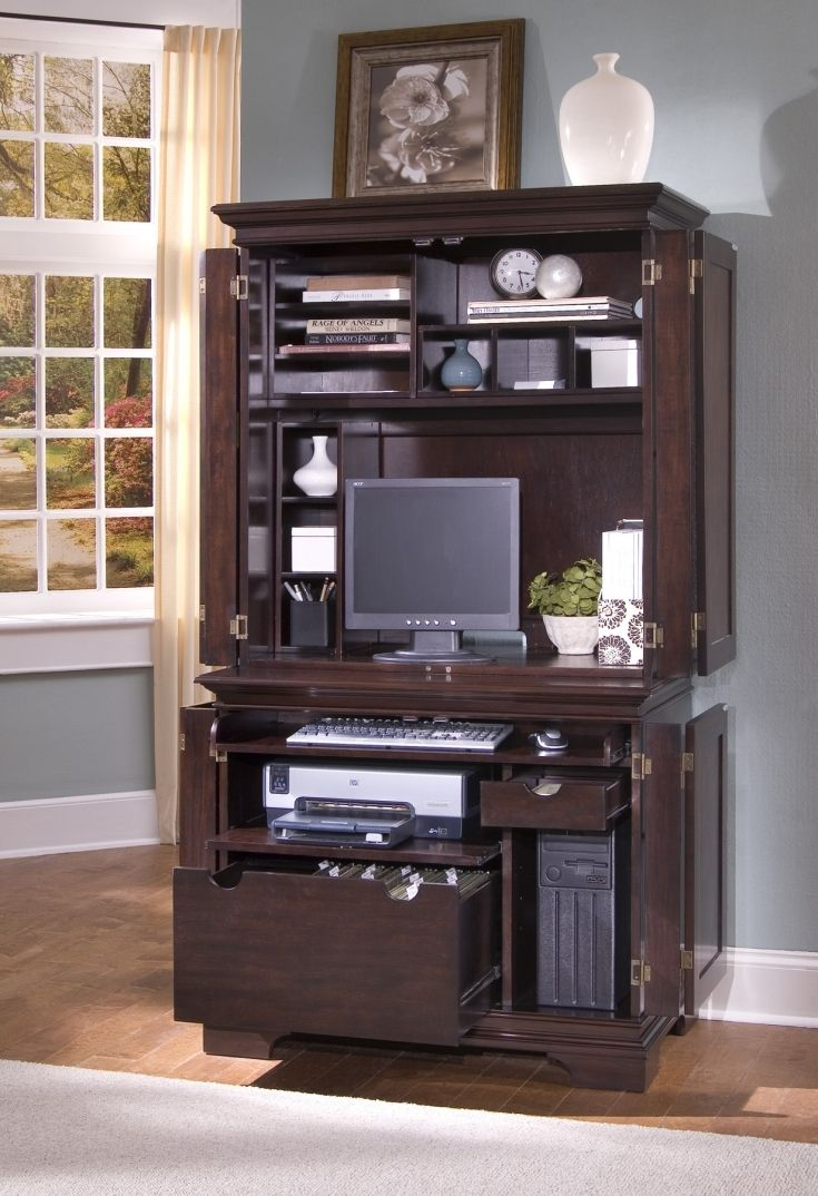 Wood computer desks with hutch best home office furniture check