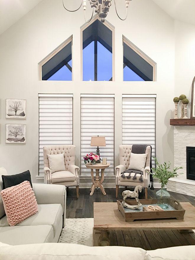 Two-story windows Living room ideas two-story windows Edie\u0027s decor