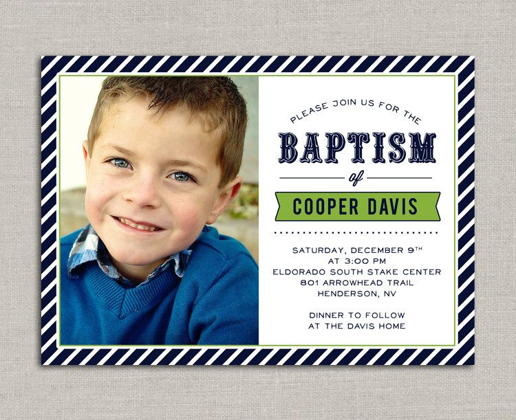 LDS Baptism Invitation - Cooper Pinterest Baptism invitations