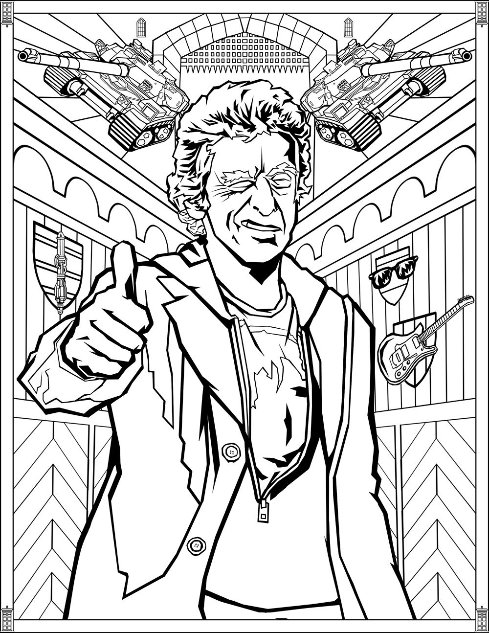 Doctor Who: Wibbly Wobbly Timey Wimey Coloring Pages [Printables]