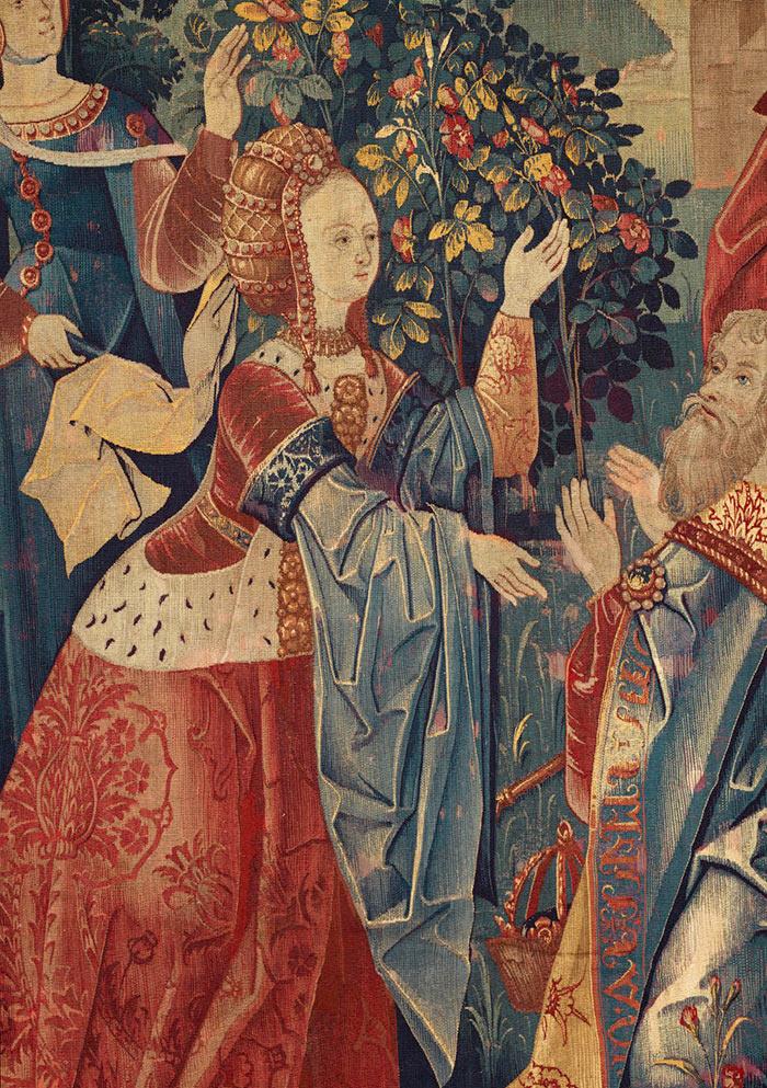 1er Q Du 16e S Tapisserie Auguste Et La Sibylle Musee De Cluny Medieval Paintings Medieval Tapestry Medieval Art