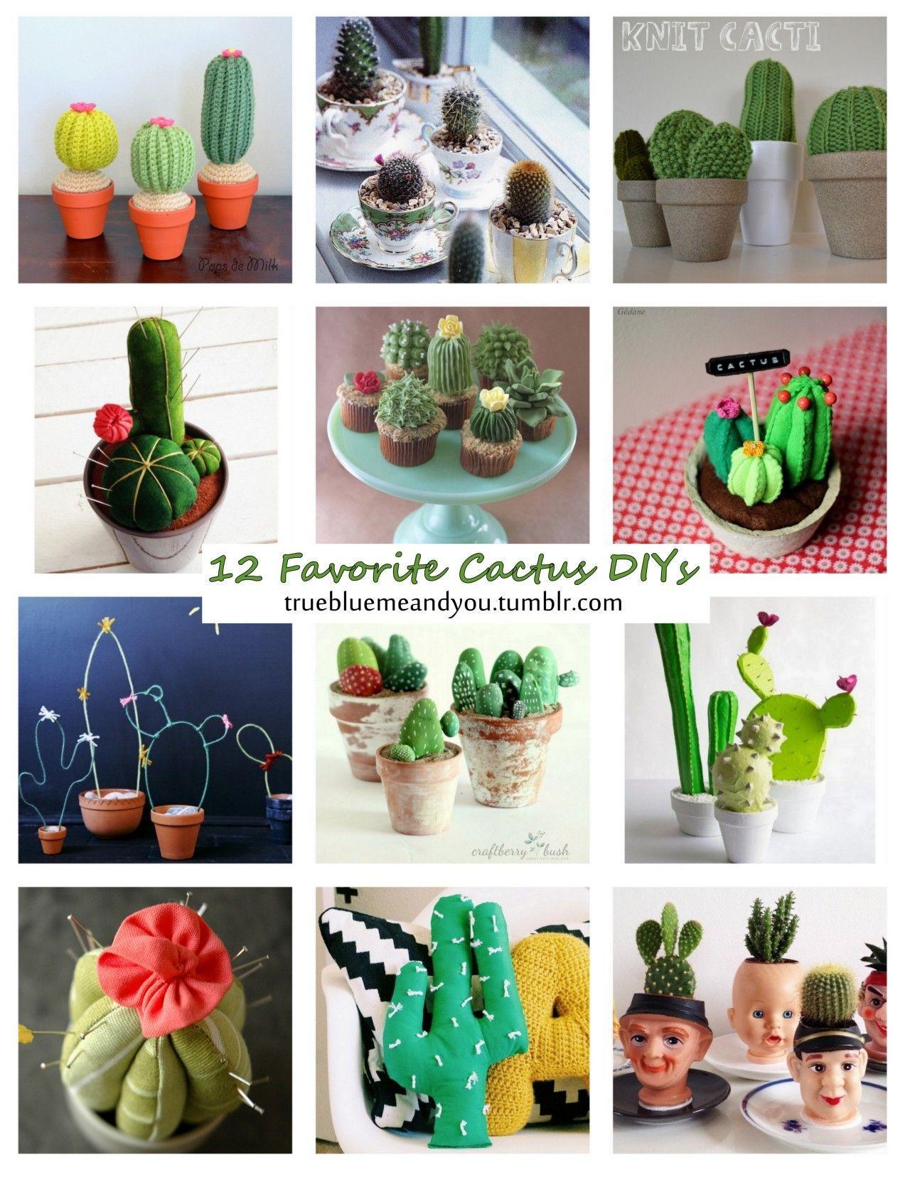 favorite cactus diys roundup by truebluemeandyou cactuscacti