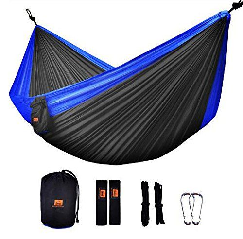 Great Camping Hammock Camping Hammock Ontodex Double Parachute Hammock With Tree Straps For Travel Backpacking Hikin Hammock Camping Tree Straps Backpacking