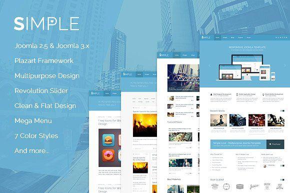 Simple Love - Joomla Template by TemPlaza on @omairsart
