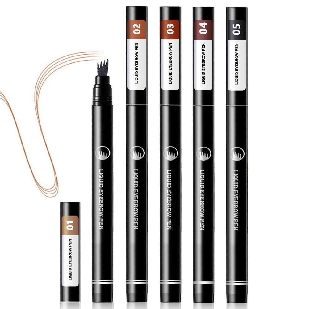 5pcs liquid eyebrow pencil tattoo eyebrow pen with four